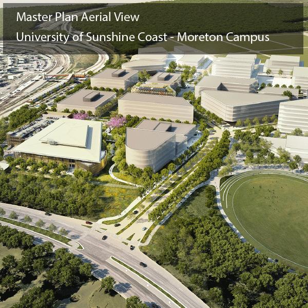 Image of aerial view of the USQ Moreton Campus