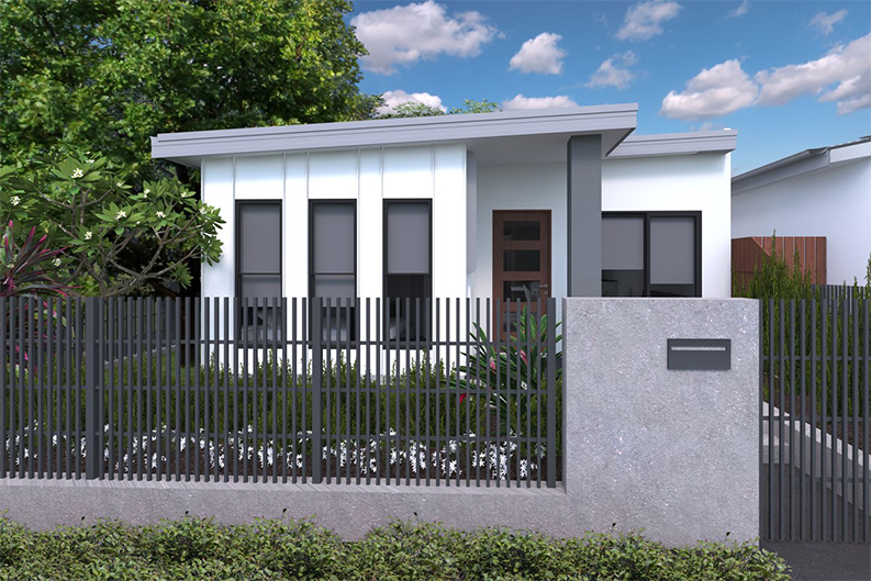 Image of the facade of the Tuscano 4B house and land package